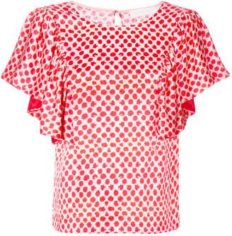 L'Autre Chose polka dot print blouse