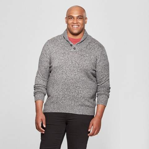 Goodfellow & Co Men's Big & Tall Shawl Pullover Sweater