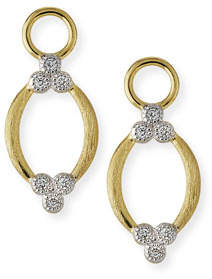 Jude Frances Provence Brushed Open Marquis Earring Charms with Diamonds