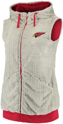 Antigua Women's Silver/Cardinal Arizona Cardinals Rant Hooded Full-Zip Vest