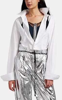 Maison Margiela Women's Cotton Oversized Layered Shirt - White