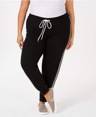 Hybrid Plus Size Varsity-Stripe Sweatpants