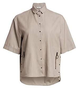 Akris Punto Women's Wide Sleeve Camp Shirt