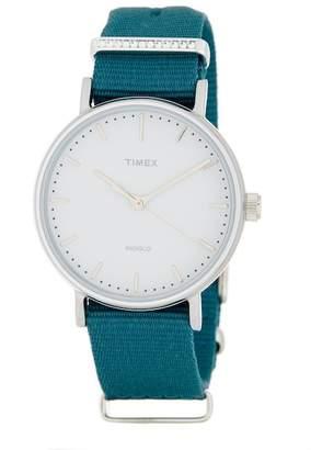 Timex Women's Fairfield Fabric Strap Watch, 37mm