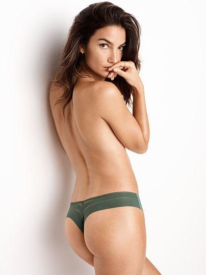 No Show Mesh-Back Thong Panty