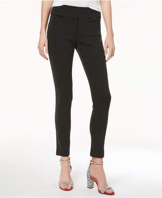 INC International Concepts I.n.c. Petite Jacquard Dot Slim Pants