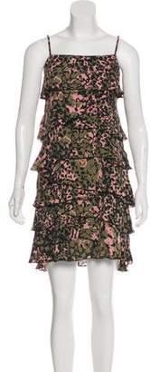 Rebecca Minkoff Printed Silk Mini Dress