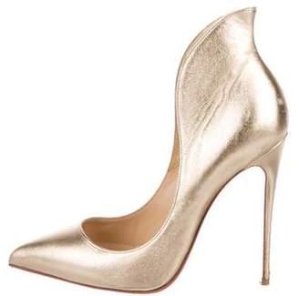 642e8e2fedfa Christian Louboutin Gold Metallic Leather Pumps - ShopStyle