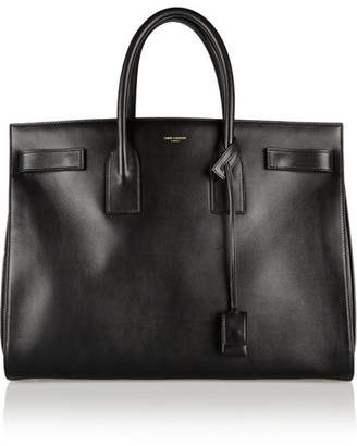 Saint Laurent Sac De Jour Medium Leather Tote - Black