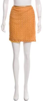 Missoni Metallic Knit Mini Skirt w/ Tags