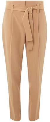 Dorothy Perkins Womens Camel Belted Tapered Leg Trousers