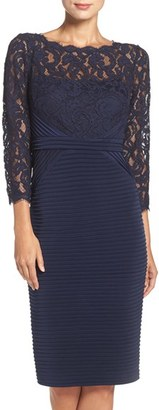 Women's Adrianna Papell Lace & Jersey Sheath Dress $189 thestylecure.com