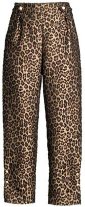 Mother of Pearl Linnie Leopard Print Jacquard Pants