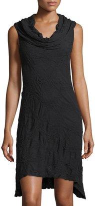 Allen Allen Cowl-Neck Crinkle-Knit Dress $59 thestylecure.com