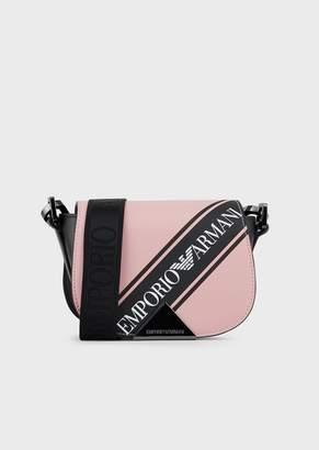 Emporio Armani Leather Mini Shoulder Bag With Logo Band