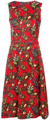 Oscar de la Renta sleeveless printed dress