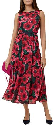 Hobbs London Carly Floral Print Midi Dress
