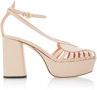 Rochas Platform Strapy Heel