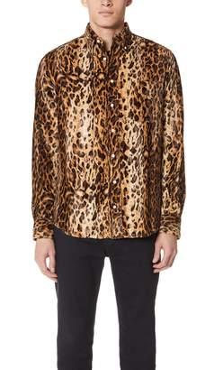 Gitman Brothers Faux Fur Button Down Shirt