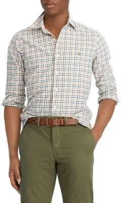 Polo Ralph Lauren Classic-Fit Plaid Cotton Sport Shirt