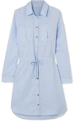 Heidi Klein St Barths Cotton Mini Dress - Sky blue