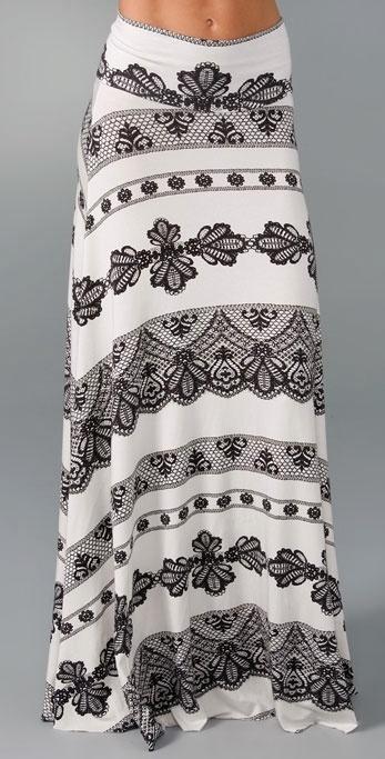 Rachel Pally Print Long Full Skirt