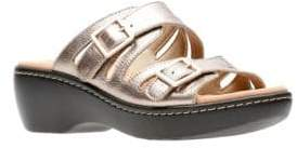 Clarks Collection By Delana Leather Slides