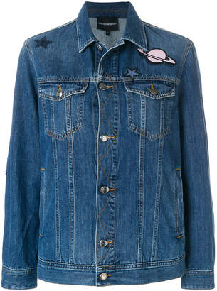Emporio Armani patched denim jacket