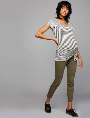 A Pea in the Pod Secret Fit Belly Sateen Skinny Leg Maternity Pants