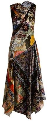 Erdem Reza Floral Print Velvet Gown - Womens - Multi