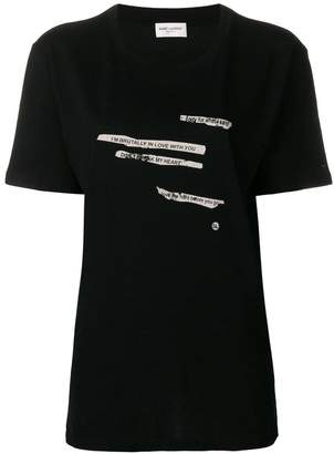 Saint Laurent printed text T-shirt