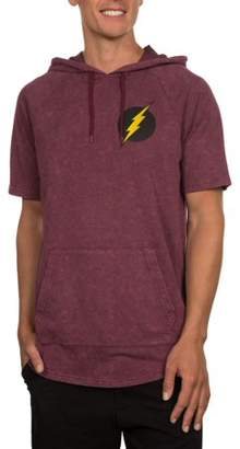 Movies & TV Men's Short Sleeve DC The Flash French Terry Mineral Wash Hoodie, Up to size 2XL