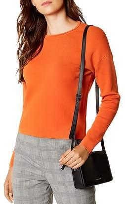 Karen Millen Zip-Back Cropped Sweater