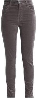 J Brand Cotton-Blend Velvet Slim-Leg Pants
