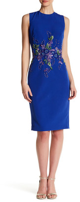 David Meister Sleeveless Embellished Sheath Dress $695 thestylecure.com
