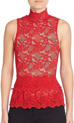 Nightcap Clothing Women's Peplum Cutout Sleeveless Top