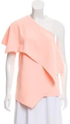 Balenciaga One-Shoulder Structured Blouse