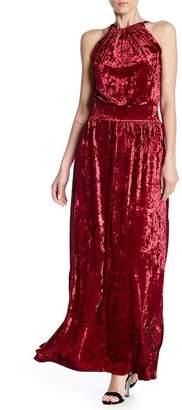 Couture Go Sleeveless Velvet Maxi Dress