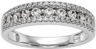 MODERN BRIDE Womens 5MM 5/8 CT. T.W. Genuine White Diamond 14K White Gold Wedding Band