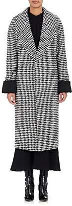 Haider Ackermann WOMEN'S HOUNDSTOOTH WOOL-BLEND LONG COAT