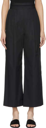 Alexander Wang Black Deconstructed Cropped Trousers