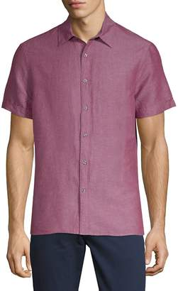 Perry Ellis Men's Short-Sleeve Button-Down Shirt