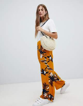 Only floral wide leg PANTS
