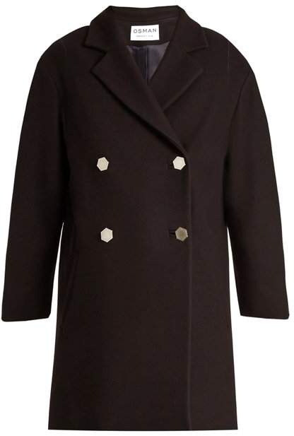 Estella double-breasted wool-blend coat
