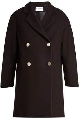 Osman Estella double-breasted wool-blend coat