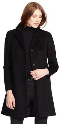 Petite Women's Lauren Ralph Lauren Wool Blend Reefer Coat $220 thestylecure.com