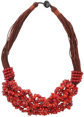 Artsmith BY BARSE By Barse Womens Enhanced Red Beaded Necklace