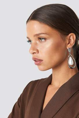 Na Kd Accessories Large Pearl Earring Silver