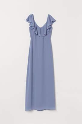 H&M Long Chiffon Dress - Blue
