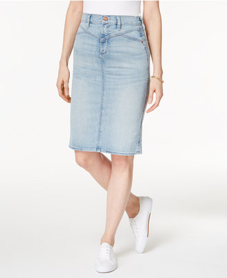 Buffalo David Bitton Ivy Denim Pencil Skirt $79 thestylecure.com